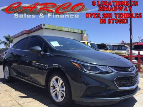 2018 Chevrolet Cruze for sale at CARCO SALES & FINANCE in Chula Vista CA