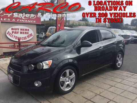 2015 Chevrolet Sonic for sale at CARCO SALES & FINANCE #3 in Chula Vista CA