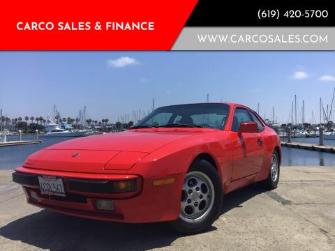 1987 Porsche 944 for sale at CARCO SALES & FINANCE in Chula Vista CA