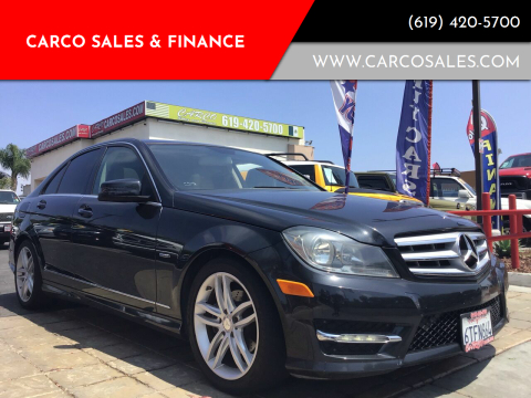 2012 Mercedes-Benz C-Class for sale at CARCO SALES & FINANCE #3 in Chula Vista CA