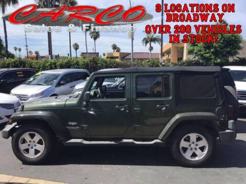 2007 Jeep Wrangler Unlimited for sale at CARCO SALES & FINANCE #3 in Chula Vista CA