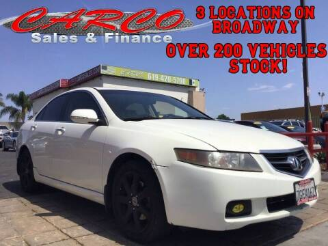 2005 Acura TSX for sale at CARCO SALES & FINANCE - Under 7000 in Chula Vista CA