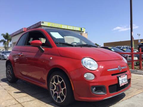 2015 FIAT 500 for sale at CARCO SALES & FINANCE in Chula Vista CA