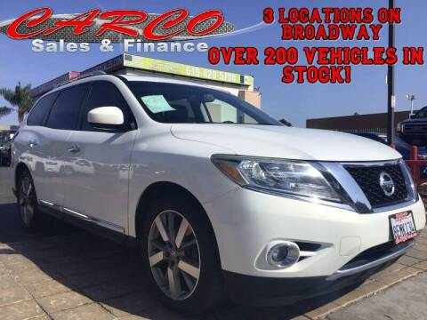 2014 Nissan Pathfinder for sale at CARCO SALES & FINANCE in Chula Vista CA