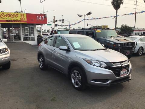 2017 Honda HR-V for sale at CARCO SALES & FINANCE #3 in Chula Vista CA