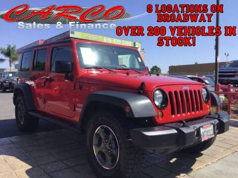 2011 Jeep Wrangler Unlimited for sale at CARCO SALES & FINANCE in Chula Vista CA