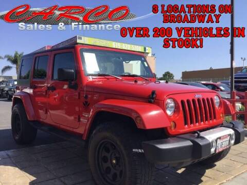 2010 Jeep Wrangler Unlimited for sale at CARCO SALES & FINANCE #3 in Chula Vista CA