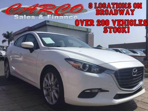 2017 Mazda MAZDA3 for sale at CARCO SALES & FINANCE in Chula Vista CA