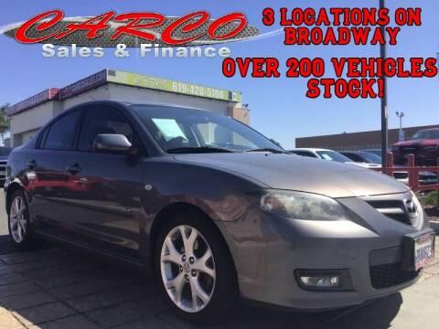 2008 Mazda MAZDA3 for sale at CARCO SALES & FINANCE in Chula Vista CA