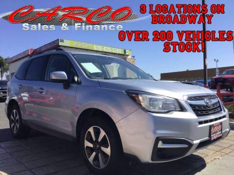 2017 Subaru Forester for sale at CARCO SALES & FINANCE in Chula Vista CA