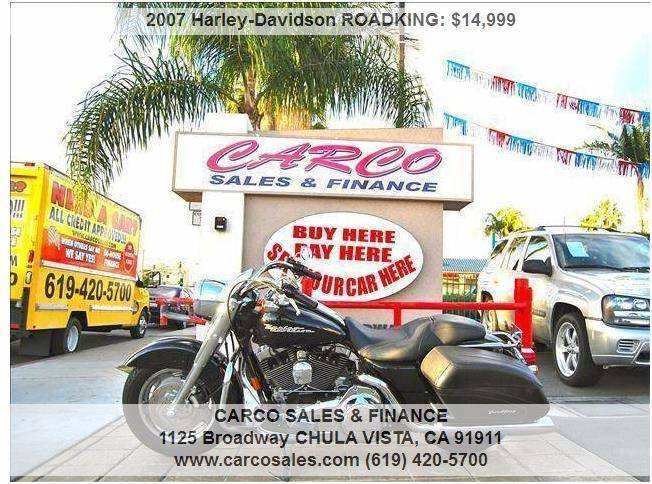 2007 Harley-Davidson Road King for sale at CARCO SALES & FINANCE in Chula Vista CA