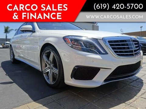2014 Mercedes-Benz S-Class for sale at CARCO SALES & FINANCE in Chula Vista CA