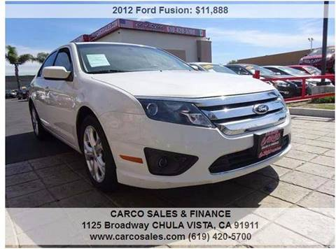 2012 Ford Fusion for sale in Chula Vista, CA