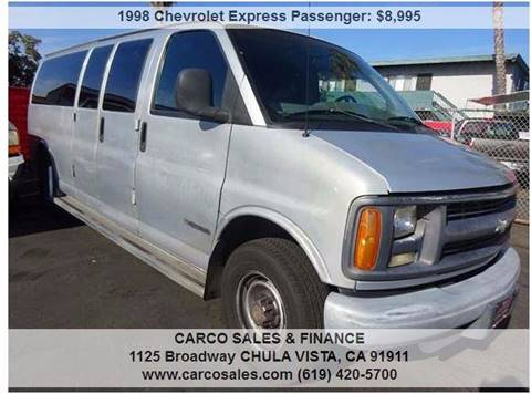 1998 Chevrolet Express Passenger for sale in Chula Vista, CA