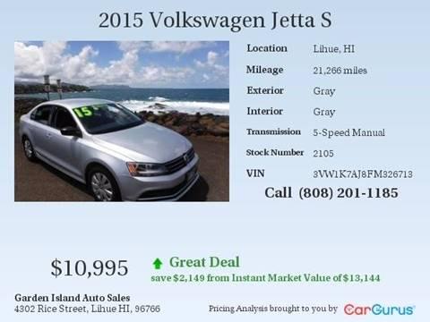 2015 Volkswagen Jetta for sale in Lihue, HI
