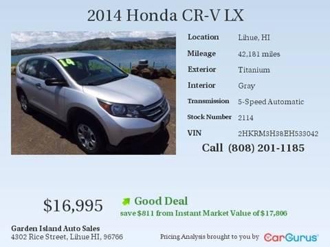 2014 Honda CR-V for sale in Lihue, HI
