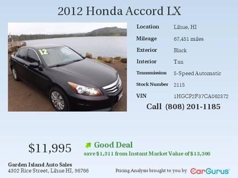 2012 Honda Accord for sale in Lihue, HI