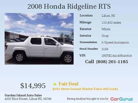 2008 Honda Ridgeline for sale in Lihue, HI
