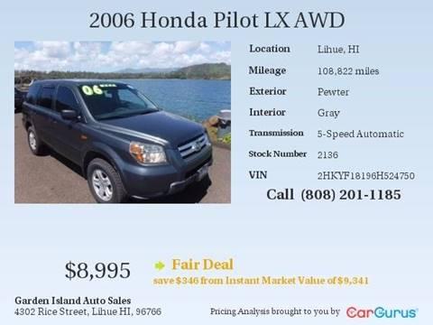 2006 Honda Pilot for sale in Lihue, HI
