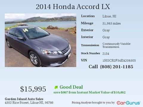 2014 Honda Accord for sale in Lihue, HI
