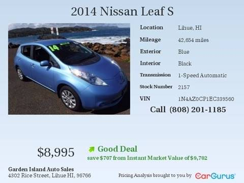 2014 Nissan LEAF for sale in Lihue, HI