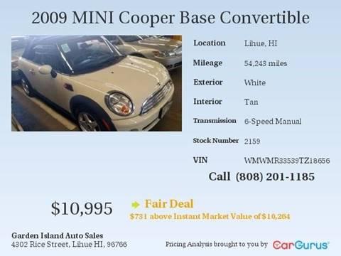 2009 MINI Cooper for sale in Lihue, HI