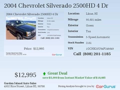 2004 Chevrolet Silverado 2500HD for sale in Lihue, HI