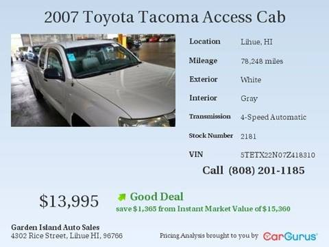 2007 Toyota Tacoma for sale in Lihue, HI