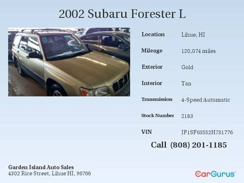 2002 Subaru Forester for sale in Lihue, HI