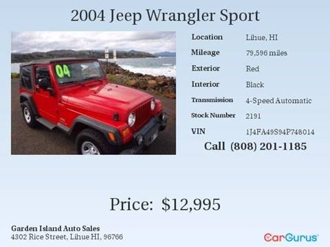 2004 Jeep Wrangler for sale in Lihue, HI