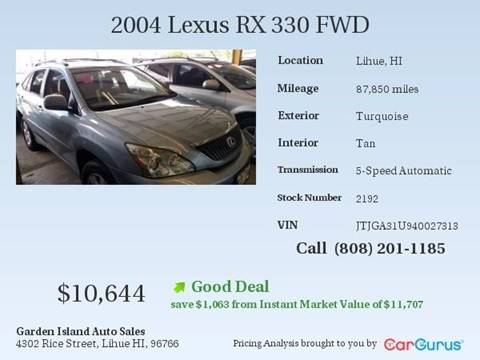 2004 Lexus RX 330 for sale in Lihue, HI