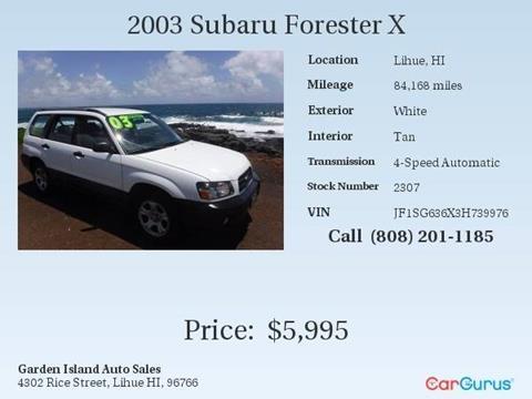 Subaru Used Cars Pickup Trucks For Sale Lihue Garden Island Auto