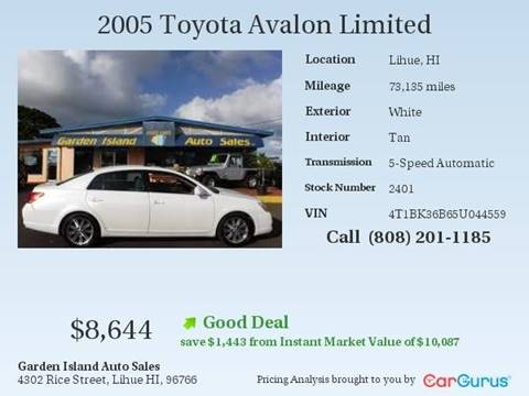 Toyota Used Cars Pickup Trucks For Sale Lihue Garden Island Auto Sales