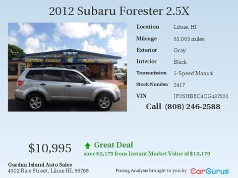 2012 Subaru Forester for sale in Lihue, HI