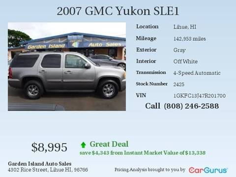 2007 GMC Yukon for sale in Lihue, HI