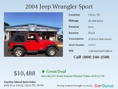 2004 Jeep Wrangler for sale in Lihue, HI
