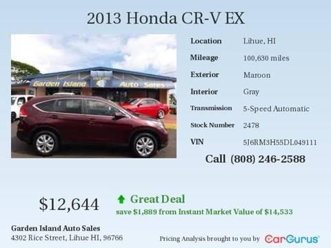 2013 Honda CR-V for sale in Lihue, HI