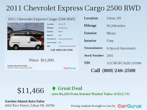 2011 Chevrolet Express Cargo for sale in Lihue, HI