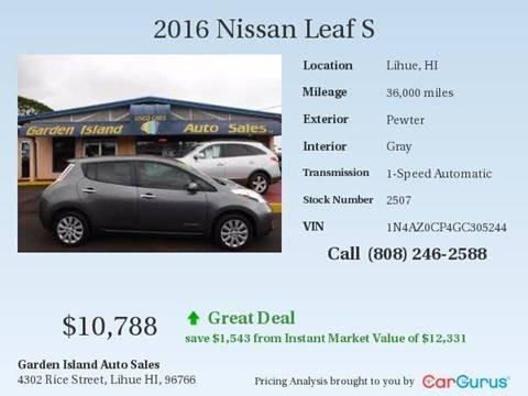 2016 Nissan LEAF for sale in Lihue, HI