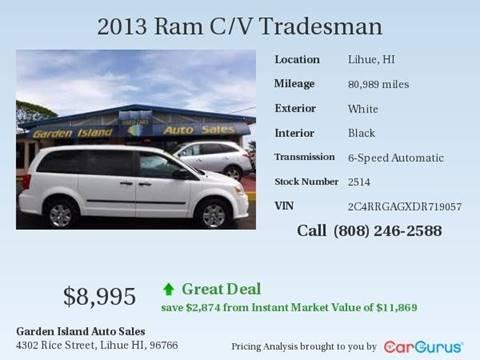 2013 RAM C/V for sale in Lihue, HI