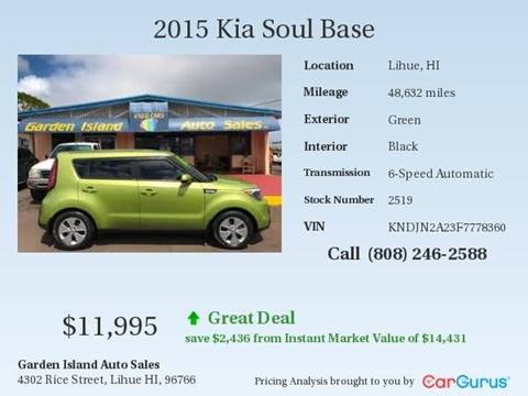 2015 Kia Soul for sale in Lihue, HI
