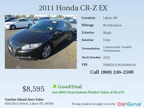 2011 Honda CR-Z for sale in Lihue, HI