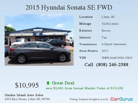 2015 Hyundai Sonata for sale in Lihue, HI