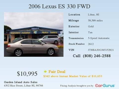 2006 Lexus ES 330 for sale in Lihue, HI