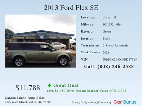 2013 Ford Flex for sale at Garden Island Auto Sales in Lihue HI