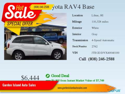 2004 Toyota RAV4 for sale at Garden Island Auto Sales in Lihue HI