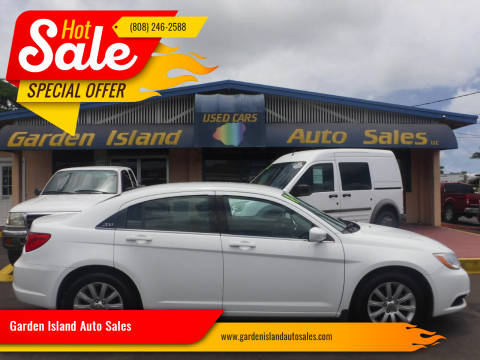 2014 Chrysler 200 for sale at Garden Island Auto Sales in Lihue HI