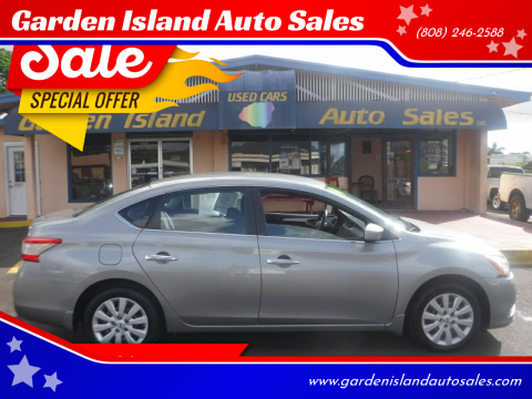 2014 Nissan Sentra for sale at Garden Island Auto Sales in Lihue HI