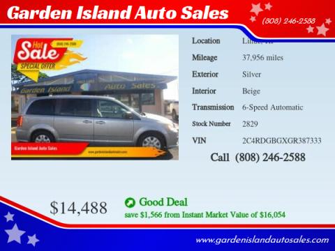 2016 Dodge Grand Caravan for sale at Garden Island Auto Sales in Lihue HI