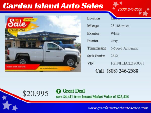 2018 GMC Sierra 1500 for sale at Garden Island Auto Sales in Lihue HI